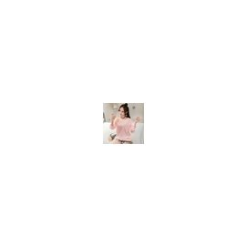 美麗大街~IR3879~甜美圓領寬鬆字母長袖上衣