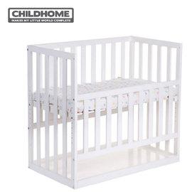 【贈床墊+床包】比利時【Childhome】床邊童話嬰兒床- 椰子白