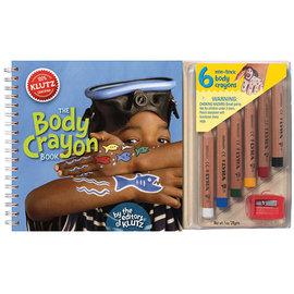 ~美國Klutz~The Body Crayon Book 蠟筆人體彩繪
