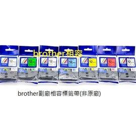 Brother TZE~121 9mm 透明底黑字 非