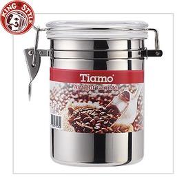 金時代書香咖啡 Tiamo ^#304不�袗�密封罐 1磅 砂光款