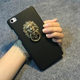 小米5小米note手機殼小米5 小米note保護套指環支架復古風獅子頭男女潮