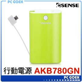 逸盛 Esense Powerful 綠 7800mAh 行動電源 ~pcgoex 軒揚~