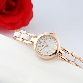 潮流手錶女士唯美 復古手鍊錶女生陶瓷白色防水石英錶