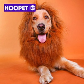 寵物飾品獅子頭套假發金毛薩摩大型犬帽子頭飾狗狗保暖圍脖變身用