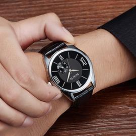 大錶盤 潮流男錶防水男女士學生手錶女錶皮帶情侶錶石英錶