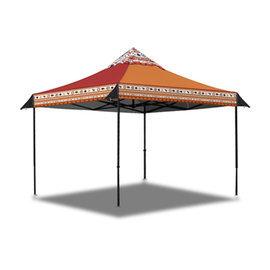 探險家戶外用品㊣23052 OutdoorBase 彩繪天空歡樂客廳帳棚 300x300cm 3Mx3M炊事帳蓬27秒帳快速可搭起帳篷