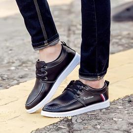 男鞋子男士休閒鞋 潮流皮鞋男青年百搭英倫豆豆鞋潮鞋棉鞋