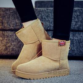 秋 雪地靴女短靴女鞋防滑平底學生加絨加厚短筒保暖棉鞋女靴子