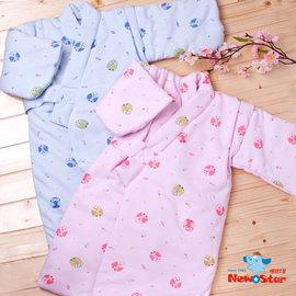 聖哥3306秋冬幼兒鋪棉和服貓頭鷹(藍/粉)