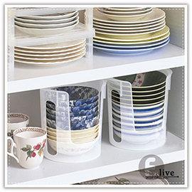 【Q禮品】A3072 碗盤整理架/廚房收納/多功能小碗盤 餐具 收納筒/直立式/小碗收納桶/櫥櫃收納架