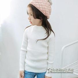 男女童打底毛線 中大童兒童毛衣圓領針織衫套頭 潮
