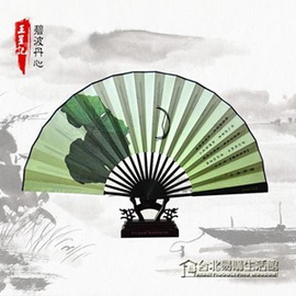 扇子男 折扇 中國風中式和風工藝絲綢扇 古風 男扇
