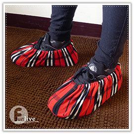 【Q禮品】B3074 印花防塵腳套/防髒鞋套/無塵鞋套/室內拖鞋/可重複使用/室內免脫鞋/鬆緊帶/地板防髒刮傷