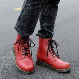 男士馬丁靴男靴英倫風短靴真皮靴子男高幫工裝靴沙漠靴男鞋潮
