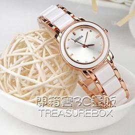 陶瓷手錶女白色韓國版潮流石英錶 休閒學生手鏈錶防水