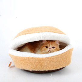貓窩可拆洗四季貓睡袋蒙古包漢堡貓屋貓墊子貓房子夏天寵物貓用品