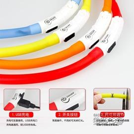 寵物發光項圈 可充電 USB三種閃燈模式泰迪金毛比熊狗狗夜光項圈