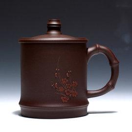 5Cgo ~ 七天交貨~36126660299 紫砂茶壺茶杯宜興蓋杯全 梅花紫砂杯 男女士