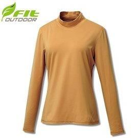 FIT 維特   女 遠紅彈性立領保暖衣 金黃  GW2503~34