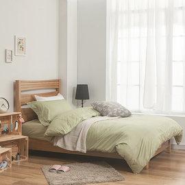 ~戀家小鋪~精梳棉素色雙人床 二件枕套~果綠