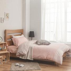 ~戀家小鋪~40支精梳棉素色雙人床包被套組~雙粉