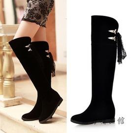 2016  女鞋過膝長靴子磨砂高筒靴內增高鞋冬天大碼女靴 酷男 館