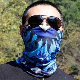 戶外騎行頭巾發帶男女速干圍脖口罩護腕釣魚防曬面罩徒步面巾