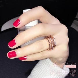 日韓潮人指環多層百搭 女戒韓國 夸張女士戒指食指