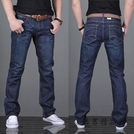 牛仔褲男 小腳修身型直筒寬鬆青年 款褲子長褲大碼加厚男式