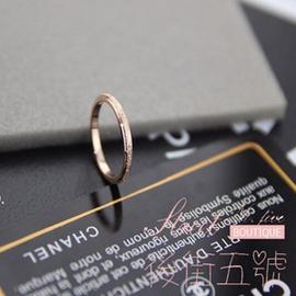 尾戒指女潮人玫瑰金小指不掉色日韓鈦鋼18k彩金磨砂簡約戒指飾品