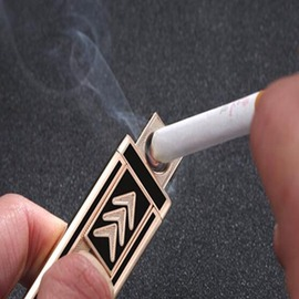 虎牌 USB充電打火機雙面防風電子點煙器超薄igo