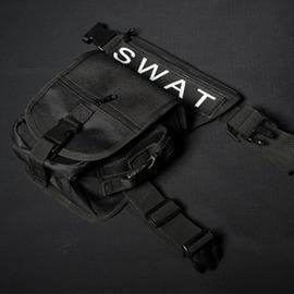 特勤戰術腿包狗包勤務包黑色自動卡扣男包帆布包戶外裝備腰包
