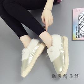 秋 棉鞋女生冬天保暖女棉鞋加絨厚底平底雪地靴防水短靴包子鞋 酷男 館