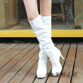 倆色   細跟長靴防水臺長筒百搭高跟棉鞋高筒騎士靴 范女鞋