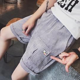 日系港風 潮男士燈芯絨寬鬆短褲男沙灘褲薄款