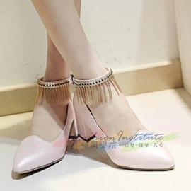 潮  涼鞋舒適中跟鞋高跟鞋夏天甜美粗跟女鞋子