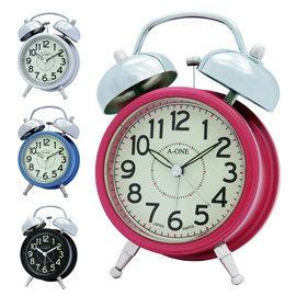 傳統打鈴超大鈴聲 A~ONE TG~0156 簡約夜光4分鐘貪睡 小雙鈴 鬧鐘