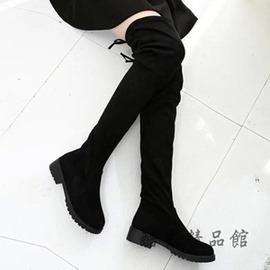 秋上新小辣椒過膝蓋綁帶長靴彈力布靴過膝靴高筒長筒靴女鞋子 酷男 館