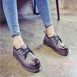 日系復古女單鞋原宿圓頭娃娃鞋厚底松糕鞋學院風英倫小皮鞋