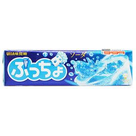 【吉嘉食品】UHA味覺糖 噗啾蘇打汽水條糖 1條50公克40元,另有哈蜜瓜.葡萄條糖{49432978:1}