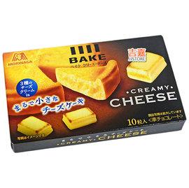 【吉嘉食品】日本 森永BAKE奶油起士磚1盒10入37公克80元,另有烤布蕾{4902888209482:1}