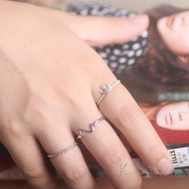 戒指日韓簡約姐妹 配飾品 氣質皇冠開口食指戒指環女