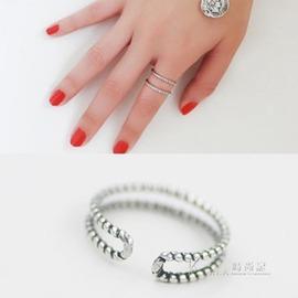 戒指日韓簡約氣質甜美 開口關節復古麻花戒指食指環尾戒女
