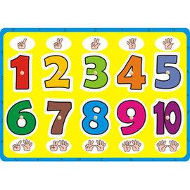 益智學習手抓板~數字點點名^(上羊^)~嵌板 木釘 ^~數字、數量等基礎認知;手部小肌肉等
