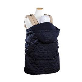 【紫貝殼●限量加贈日本製 純水99.9%濕紙巾隨身包(2包)】『BF04-8』韓國 Pognae 秋冬多功能防風保暖袍-深藍【適合每款背巾】