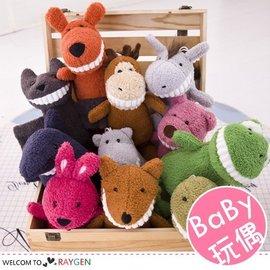 兒童禮物 寶寶安撫玩偶 微笑大牙 公仔 毛絨玩具 【HH婦幼館】