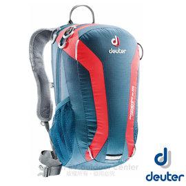 【德國 Deuter】Speed Lite 15L 輕量級透氣健行登山背包(反光標緻/人體工學肩帶).攻頂包.自行車背包.水袋背包 _33111 深藍/紅