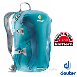 【德國 Deuter】Speed Lite 20L 輕量級透氣健行登山背包(反光標緻/人體工學肩帶).攻頂包.自行車背包.水袋背包 _33121 綠/藍綠