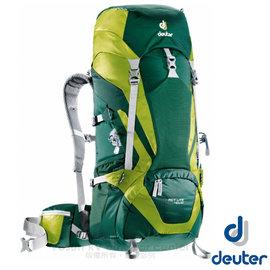 【德國 Deuter 】ACT Lite 40 + 10 SL  輕量拔熱式透氣背包(Aircontact 透氣系統+大容量空間)/登山健行背包 _ 3340115 深綠/草綠